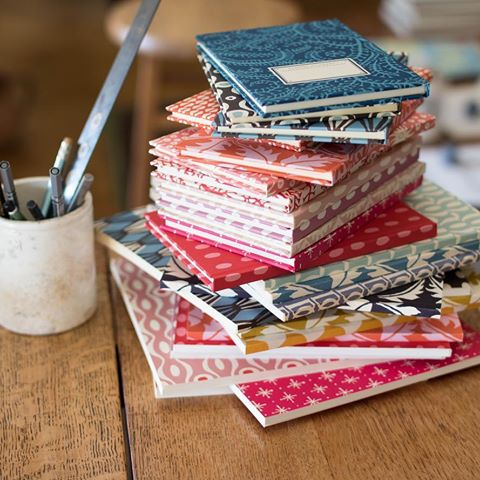 Patterned notebooks to cheer up your desk.
