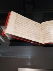 Music score from V&A Opera exhibition/Charis White interiors blog