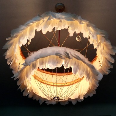 BERTIE WHITE night feather light Coldharbourlights London/Charis White interiors blog