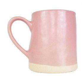 Blush pink mug, Yonder Living/Charis White Boho interiors blog post