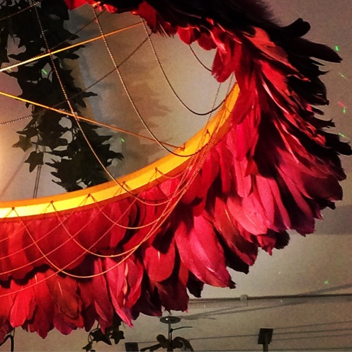 Red plum feather light[14888]