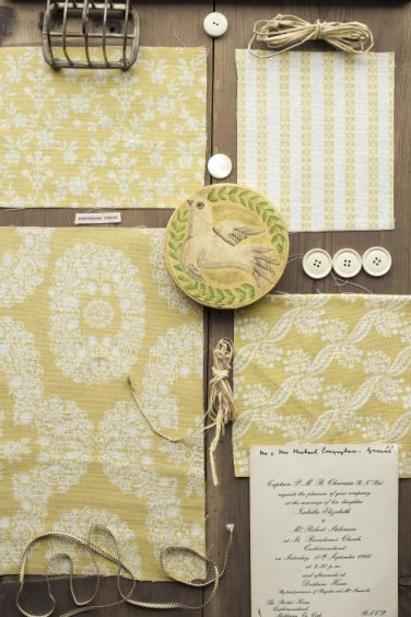 Straw yellow moodboard: Mountain Flowers collection by Charlotte Gaisford/Charis White interiors blog