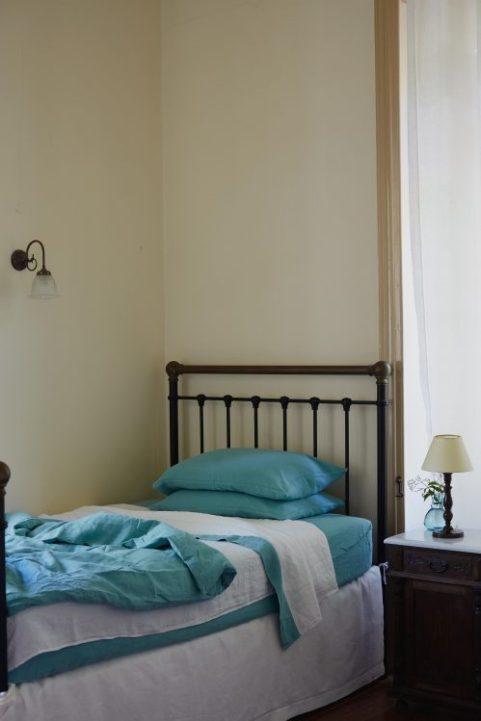 CrushedBedLinen_011 1 Volga turquoise bedlinen Volga Linen on Charis White interiors blog