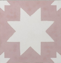Pradena pink star tile by Bert & May/Charis White interiors blog.