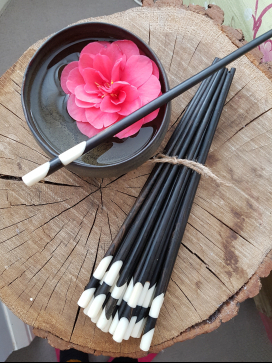 10 pair set of black and white vintage chopsticks, White Vintage shop on Charis White Interiors