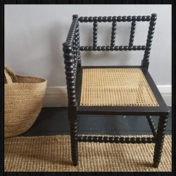 Bobbin corner chair for sale at Charis White Interiors online shop