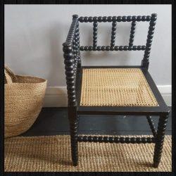 Bobbin corner chair for sale at Charis White Interiors online shop