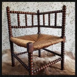 Bobbin chair for sale at White Vintage Shop/Charis White Arts and Crafts blog