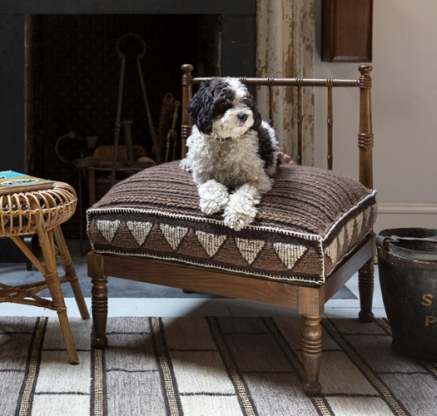 Howe 19th Cen spindle turned chair Great Bear dog bed