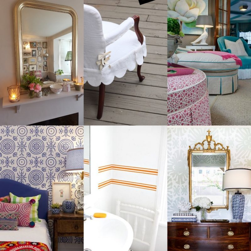 Collage of images, Charis White, Holly Matthis interiors, Anna Spiro, Jane Cumberbatch, Jennifer Barron Interiors/Charis White Interiors blog