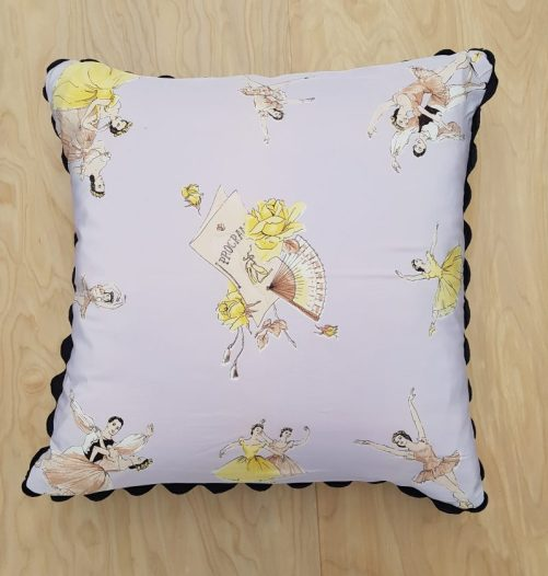 1950s silk scarf ballet cushion in Charis White Interiors blog Christmas Gift Guide 2018