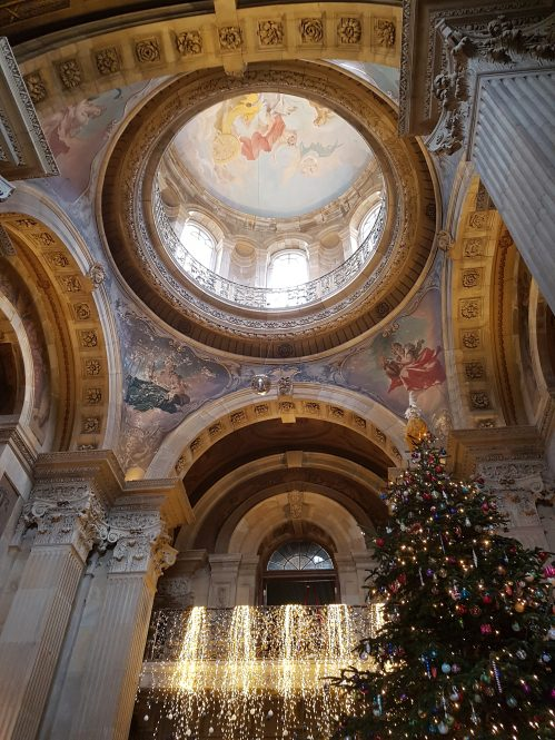 Grand Hall, Christmas Tree and lights 2018 at Castle Howard on Charis White Interiors blog