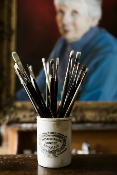 paint brushes by Eva Nemeth on Charis White Interiors blog