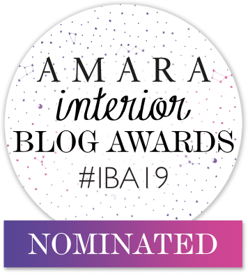 Amara interior blog awards #IBA19 nominated