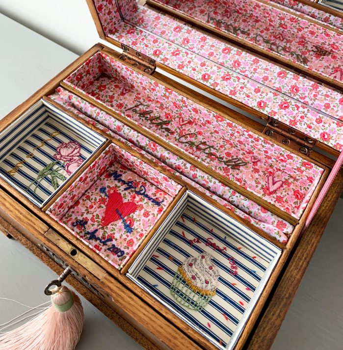 Woodbury and Co jewellery box on Charis White Interiors blog