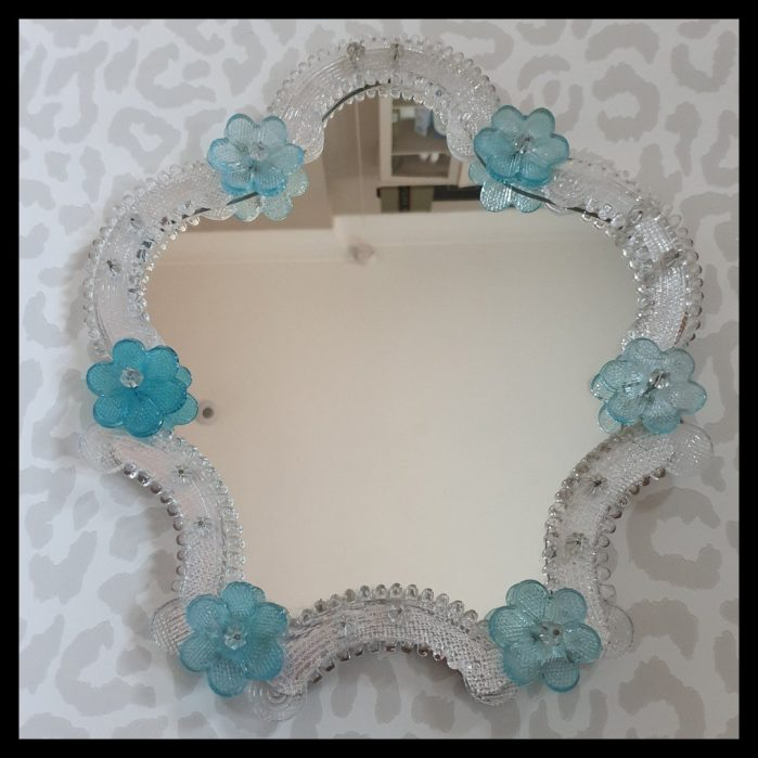 Vintage venetian style mirror for sale in Charis White Interiors shop