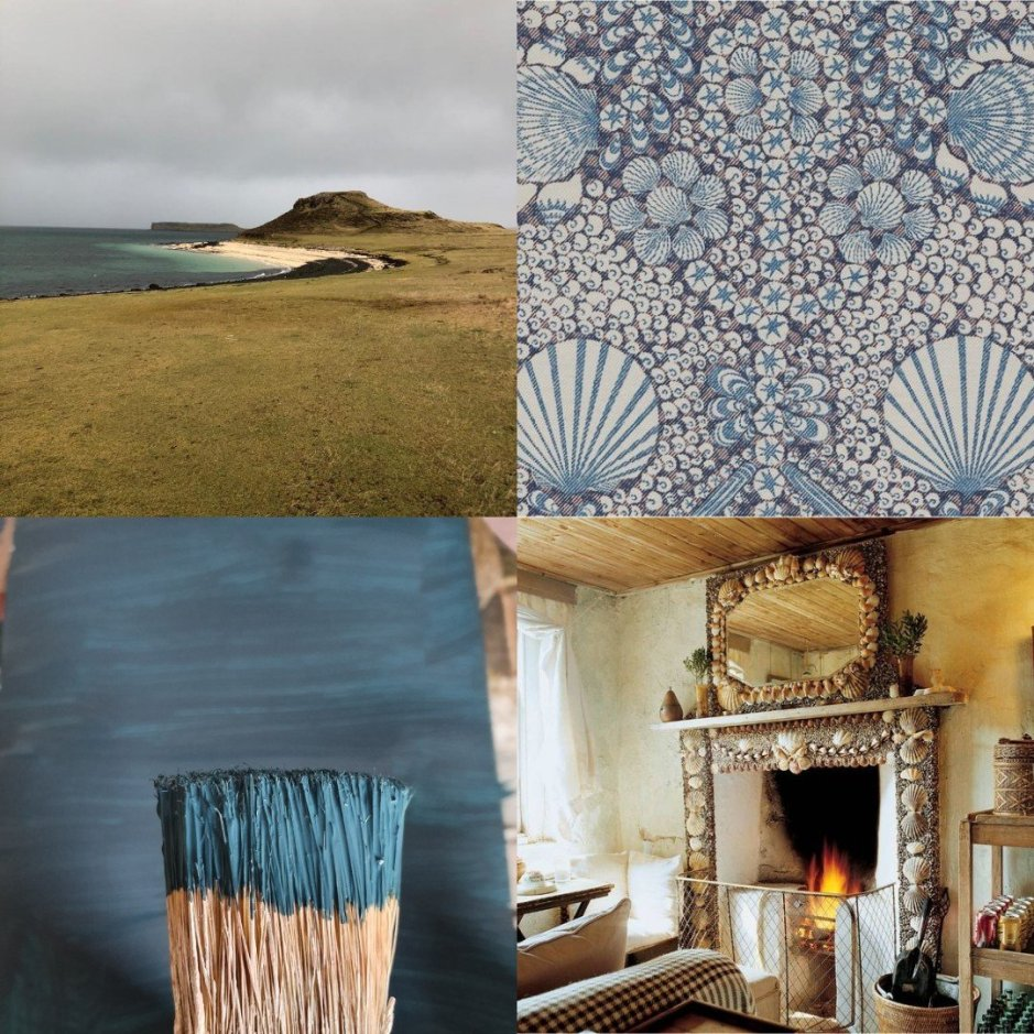 Hebridean Island Style collage on Charis White Interiors blog