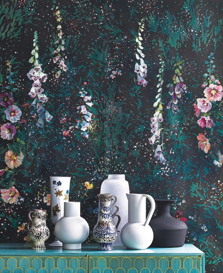 Midnight Garden by Flora Roberts, styled by Mary Norden with photography by Polly Wreford for Homes & Gardens magazine