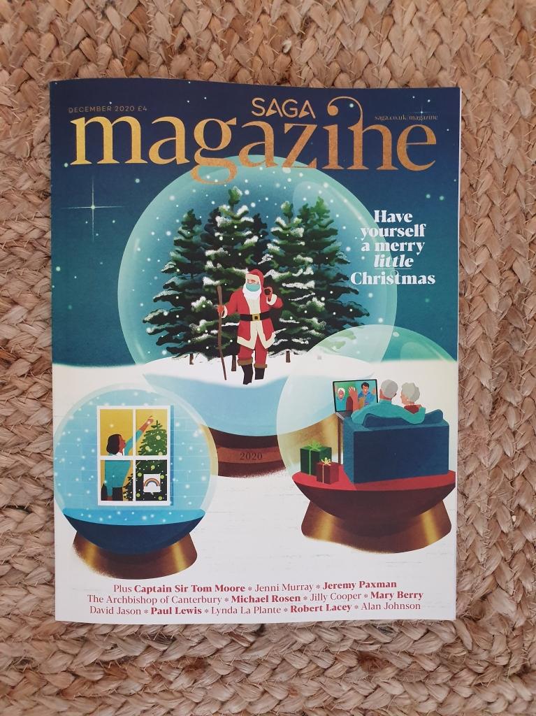 Saga magazine December 2020 issue on Charis White Interiors blog