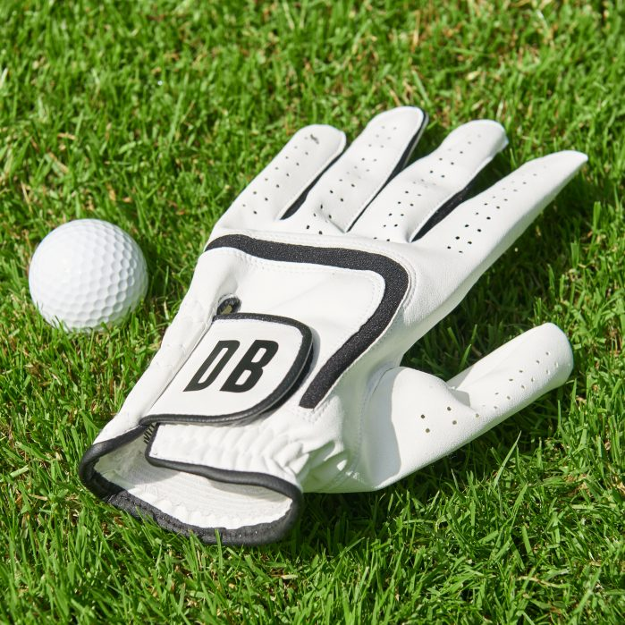 Monogrammed leather golf glove, Notonthehighstreet.com on Charis White Interiors blog
